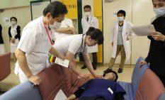 協同病院で災害訓練
