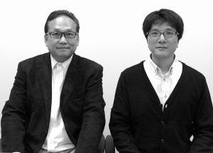 早野代表(左)と嶋田副代表