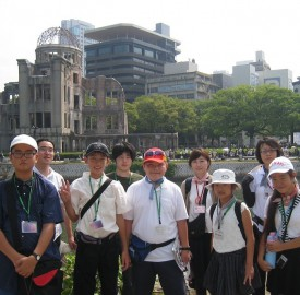 広島を訪問した大和市の子供たち