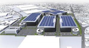 図面の奥が三菱重工業相模原製作所、右側が国道129号