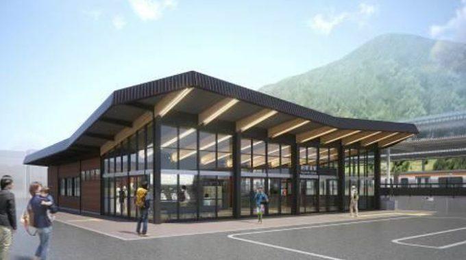 前回かい修治のデザインを生かした駅舎