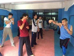 ネパールでボクシングの指導を行った岡川さん