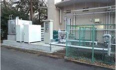 開発センターに導入した自社開発の「水熱利用システム」