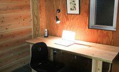 木質素材の質感を生かした個室