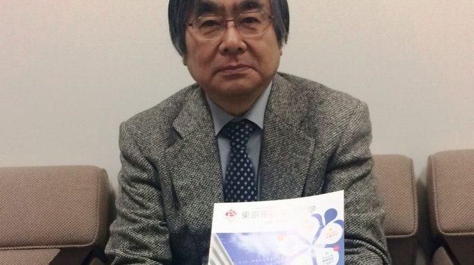 新体制構想を説明する廣江学長