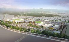大規模な駐車場で広域から集客を狙う新SC