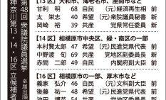 第48回衆議院議員選挙/神奈川第13・14・16区立候補者