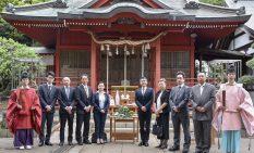 村富神社に集まった会員ら