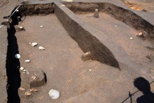 猿投の灰釉陶器が見つかった竪穴式住居跡