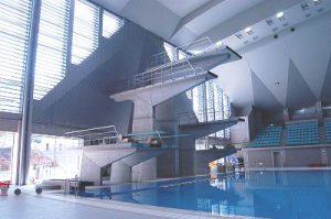 ワールドシリーズの会場となる市立総合水泳場