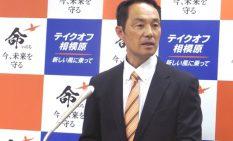 市長選に向け記者会見を開いた宮崎市議