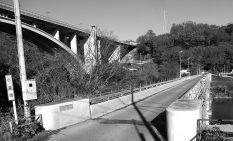 五輪自転車ロードレースのコースに入った旧小倉橋