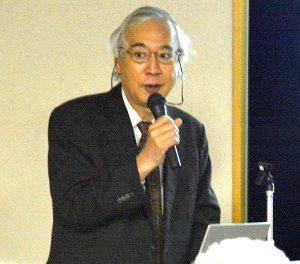 相模原の観光を話す羽田教授