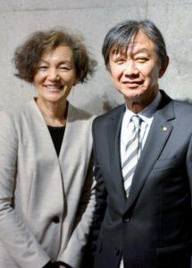 国際協議会に出席した杉岡夫妻