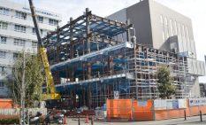 SIC-2隣接地に建設中の増築棟