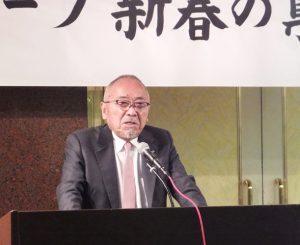 新年の決意と新たな目標を語る祇園会長