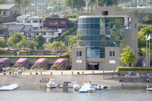 全国大会に対応できる規格になった相模湖漕艇場