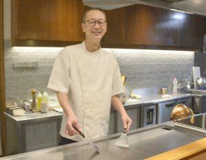 公邸料理人の経験を生かす判さん
