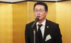 新会長就任のあいさつに立った桑島氏
