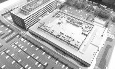 建設工事が始まった新病院の模型