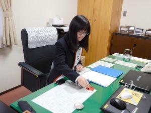 市立内出中学校3年の山田さん